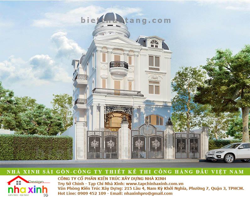 Biệt Thự Tân Cổ Điển Anh Hưng Quận 12 | BT-120 - biet thu dep tan co dien