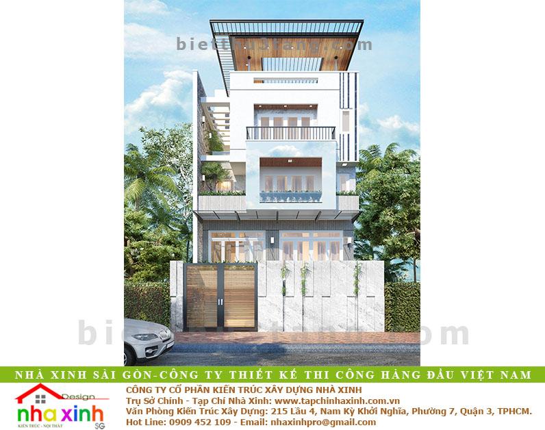 Mẫu Thiết Kế Biệt Thự Hiện Đại 3 Tầng Phú Nhuận | BT-179 - biet thu hien dai