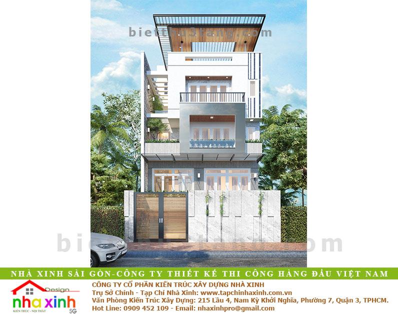 Mẫu Thiết Kế Biệt Thự Hiện Đại 3 Tầng Phú Nhuận | BT-179 - biet thu 3 tang