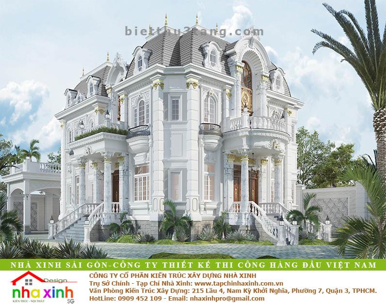 Biệt Thự Đẹp Phong Cách Cổ Điển Châu Âu | Ông Biển Biên Hòa | BT-179 - biet thu dep