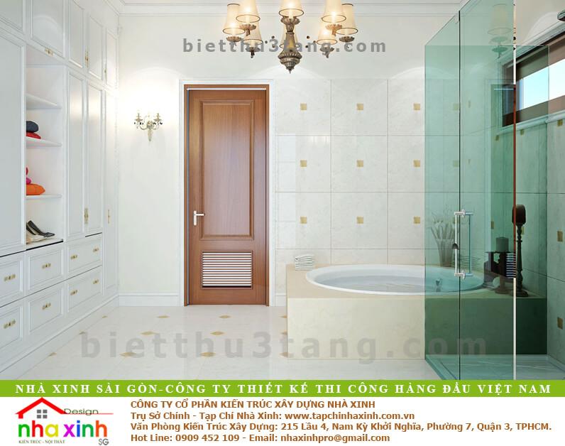 Mẫu Biệt Thự Tân Cổ Điển | Ông Hòa | BT-192 - phong sauna biet thu tan co dien