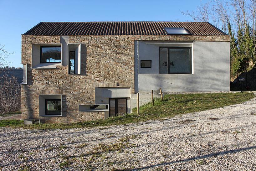 căn nhà được xây bằng đá với khung bê tông (2)