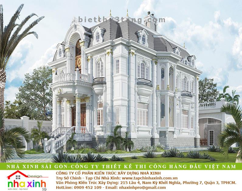 Biệt Thự Đẹp Phong Cách Cổ Điển Châu Âu | Ông Biển Biên Hòa | BT-179 - biet thu dep co dien Chau au