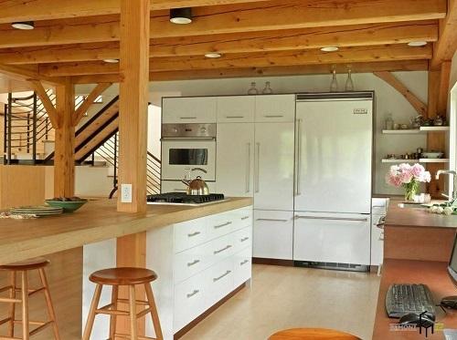 Căn bếp sang trọng với nội thất gỗ đơn giản |NT-136