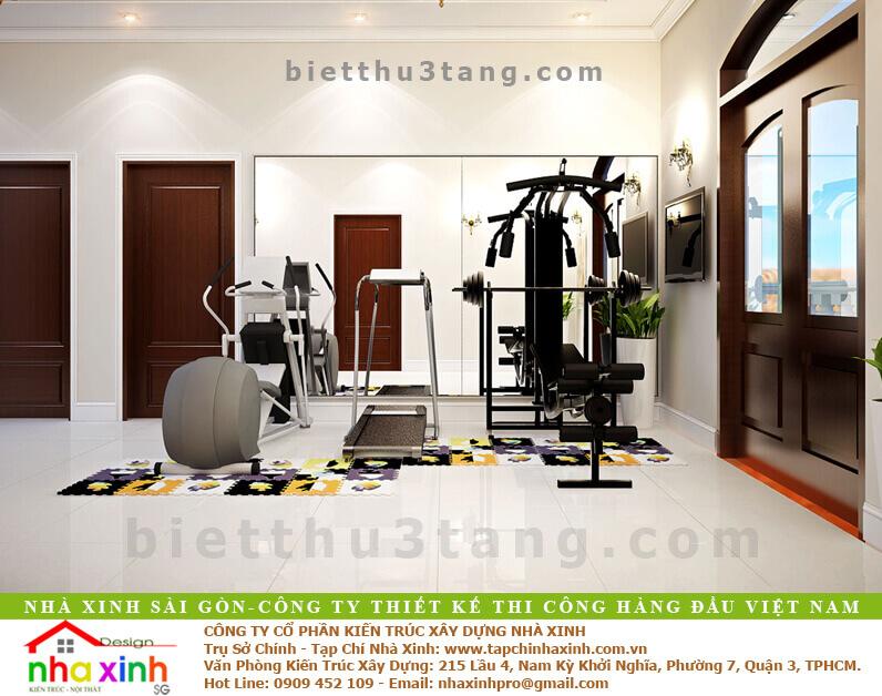 Mẫu Biệt Thự Tân Cổ Điển | Ông Hòa | BT-192 - noi that phong gym