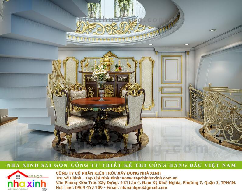 Mẫu Biệt Thự Đẹp Phong Cách Cổ Điển | Kim Anh | BT-190 - phong tho biet thu co dien