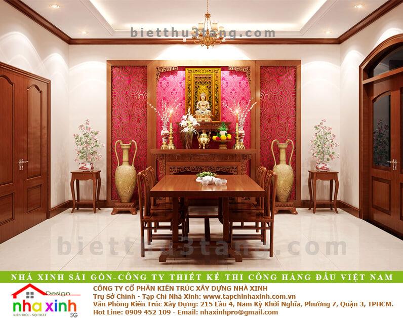 Mẫu Biệt Thự Tân Cổ Điển | Ông Hòa | BT-192 - phong tho biet thu tan co dien