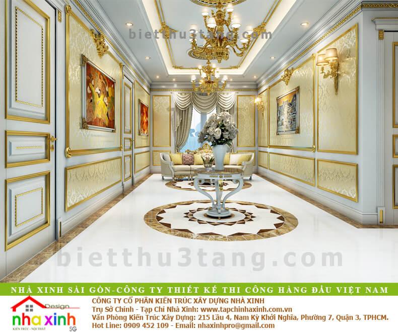 Mẫu Biệt Thự Đẹp Phong Cách Cổ Điển | Kim Anh | BT-190 - hanh lang biet thu co dien