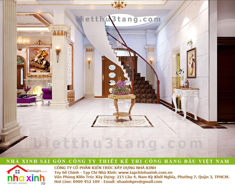 Mẫu Biệt Thự Tân Cổ Điển | Ông Hòa | BT-192 - sanh biet thu tan co dien