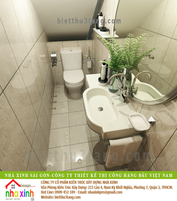 Thiet ke noi that WC nha pho, mau nha xinh